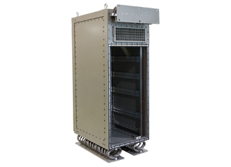 Rugged cabinets feature modular and bolted construction
