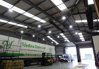 Industrial luminaires helping to reduce energy consumption
