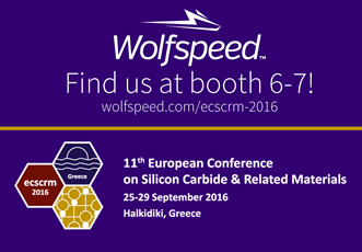 Wolfspeed to present at ECSCRM 2016