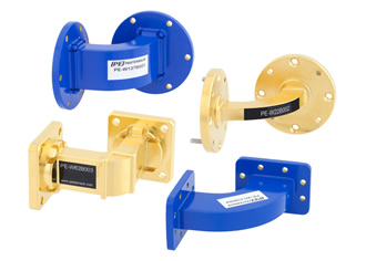 Waveguide bends operate across 12 bands from 5.85 to 90GHz