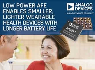 Low Power AFE enables lighter wearable health devices