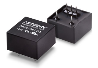 Compact industrial DC/DC converters have wide input range
