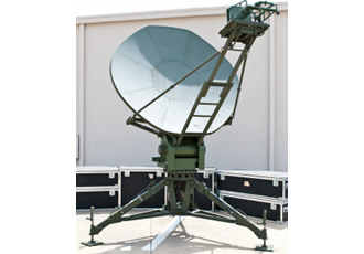 High-wind transportable antenna for defense use