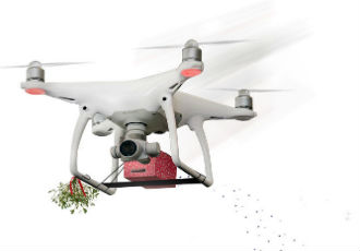 The ultimate Christmas drone