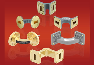 Waveguide bends support frequencies up to 90GHz