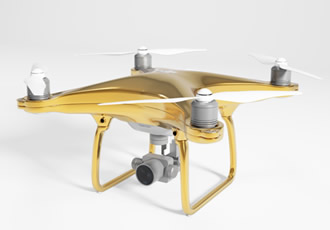 Spice up your life with a luxury gold-plated drone