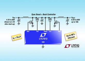 DC/DC controller maintains voltage regulation in automotive systems