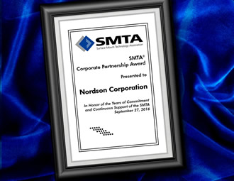 Nordson honoured with SMTA Corporate Partnership Award