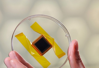 Light-trapping 3D solar cells undergo space testing