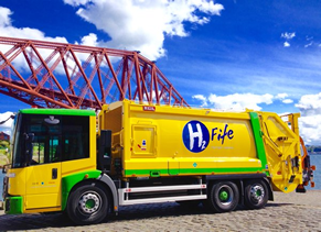 Hydrogen dual-fuel bin lorries hit the roads in the UK