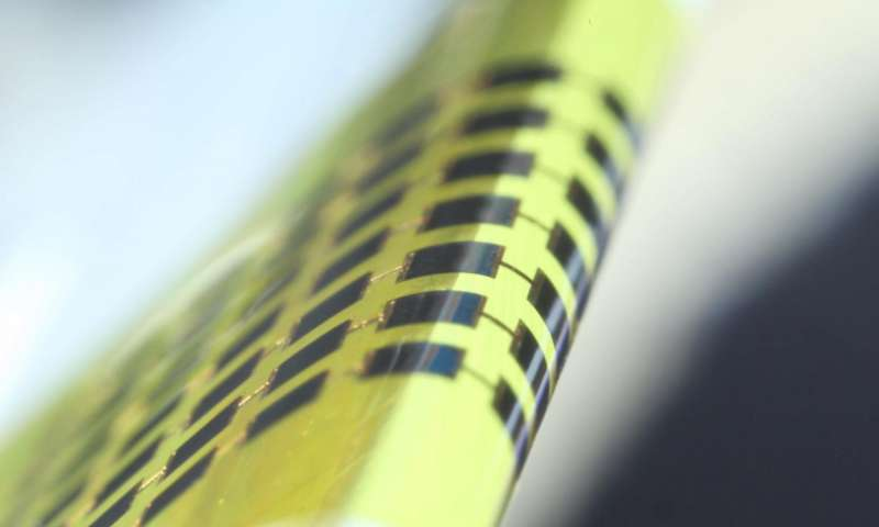 Ultra-thin solar cells can bend around a pencil