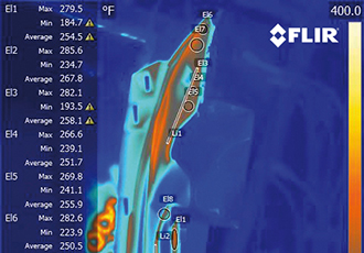 Thermal imaging validates the quality of automotive parts