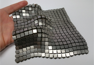 Metallic 'space fabric' links fashion and engineering