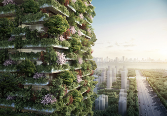 Green towers absorb air pollution in China