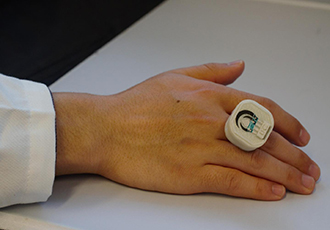 A chemical and biological threat detector-on-a-ring