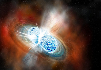 Neutron star collision seen for the first time