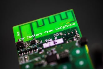 Battery-free cellphone harvests ambient power
