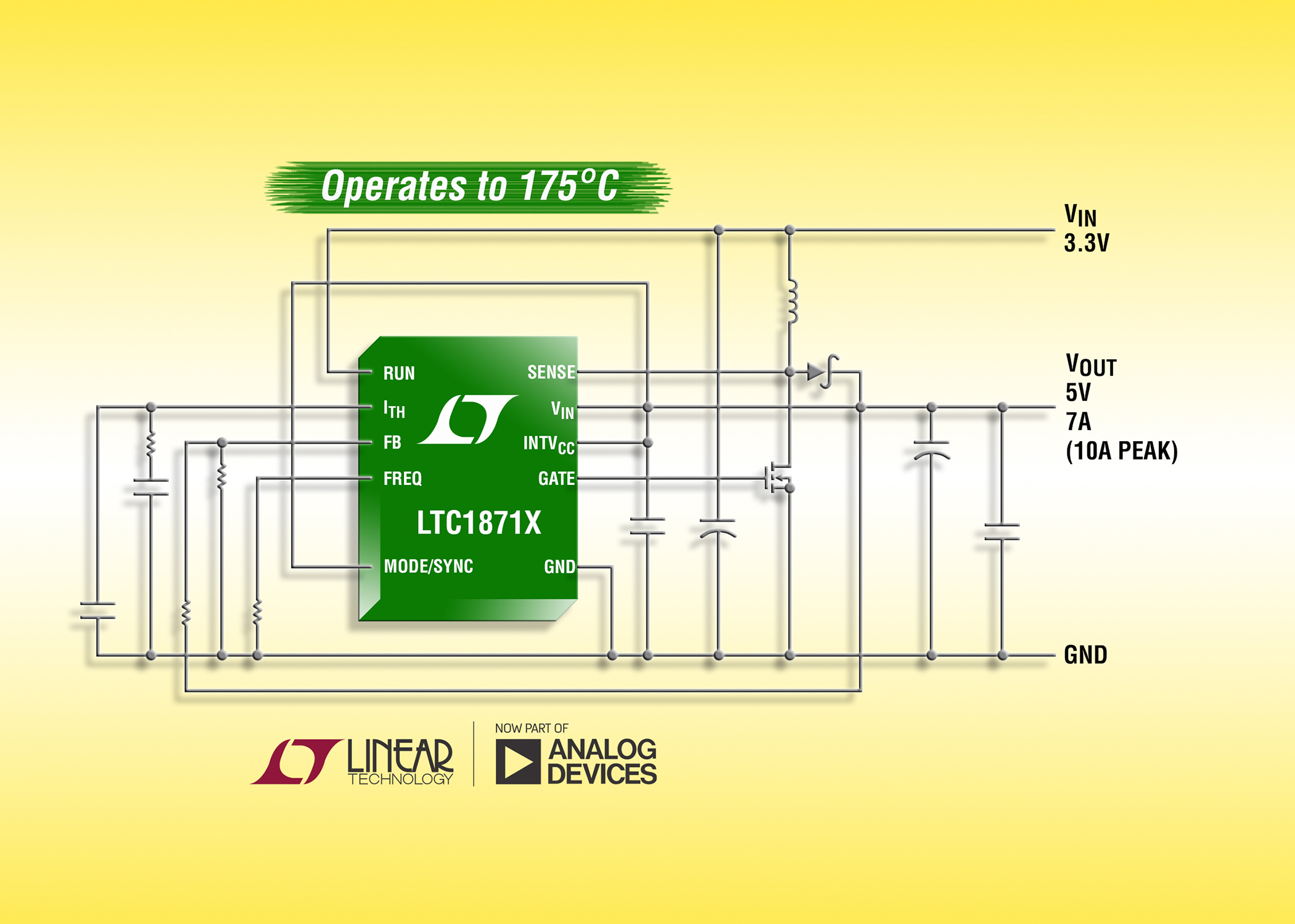 Linear Technology Uk Limited News From Escom Monolithic Synchronous Stepdown Dc Converter Boost Flyback Sepic Controller Operates Up To 175c