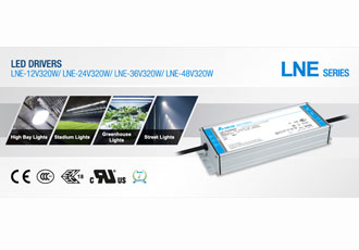 LED Drivers series extended with 320W output power