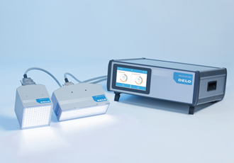 High-power curing lamps are touchscreen-controlled