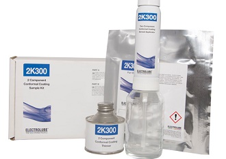 Kit mixes, dispenses and sprays conformal coating