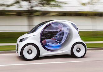 Autonomous car concept picks you up