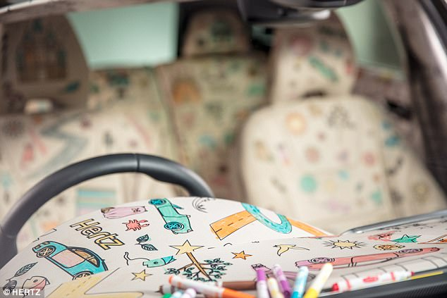 The end of 'are we there yet?': the world's first colouring-in car