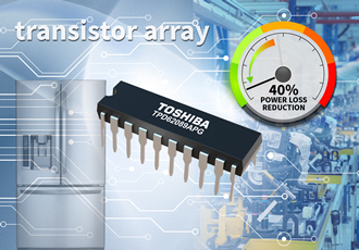 Transistor array reduces power losses by 40%