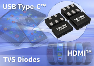 Multi-bit TVS diodes protect high-speed interfaces from ESD