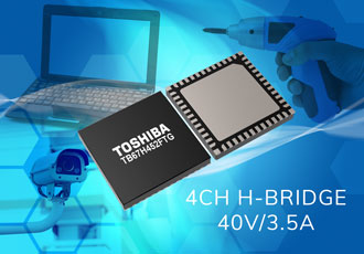 High-current H-bridge motor driver IC is small and efficient