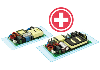 Open frame power supplies approved for medical applications