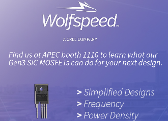 Wolfspeed to present latest SiC MOSFET tech at APEC 2017