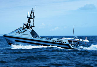 Successful trial of unmanned mine hunting