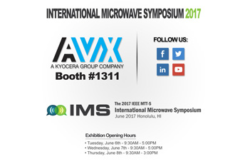 RF/Microwave solutions to be showcased by AXV at IMS 2017