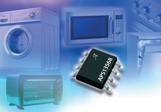 Micropower LED driver contains integrated Hall-effect switch