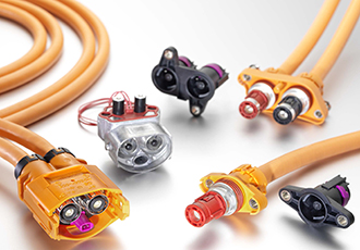 High-voltage connectors up to 450 A current ampacity