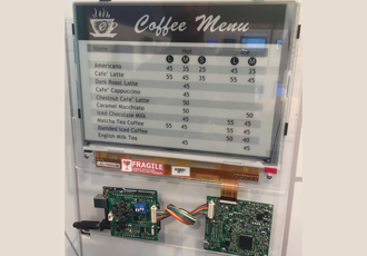 E-paper displays provide eco friendly signage