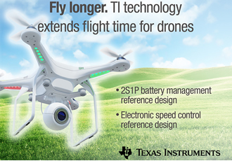 Reference designs extend flight time of industrial drones