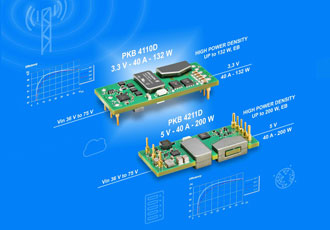 Duo of isolated eighth-brick DC/DC converters deliver on efficiency