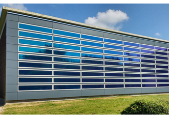 Solar films installed on research centre building