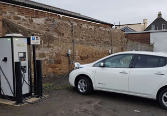 eVolt charge points support taxi firm with environmental goals
