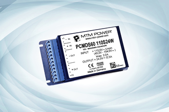 DC/DC converters with 60W support railway applications