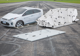 Soft car collision avoidance testing reaches motorway speed