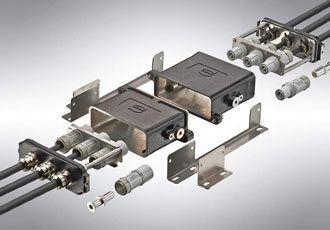 Robust connectors designed for miniaturisation in the rail sector