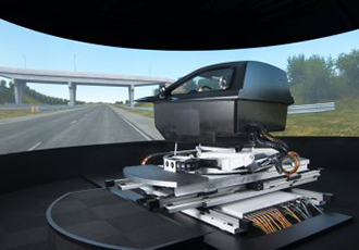 Motion control for high end vehicle simulation