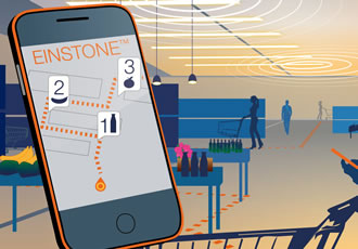 Shop lighting integrates digital beacon technology