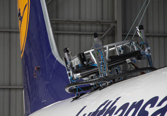 Mobile robot makes aircraft inspection easy