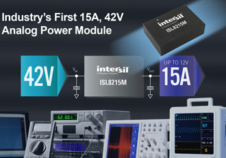 Industry's first 15A, 42V analogue power module