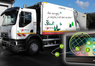 Android terminal installed in waste collection lorries