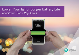 Boost regulator enables longest battery life in smallest form factor